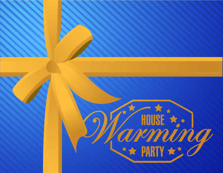 house warming party: house warming party ribbon background sign illustration design graphic