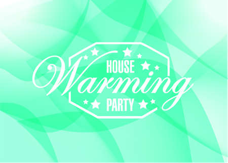 house warming party: house warming party abstract green background sign illustration design graphic
