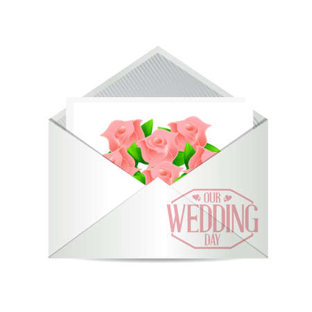 our: our wedding day invite illustration design graphic Illustration