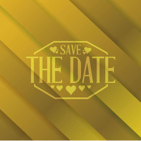 save the date gold lines background sign illustration design graphic