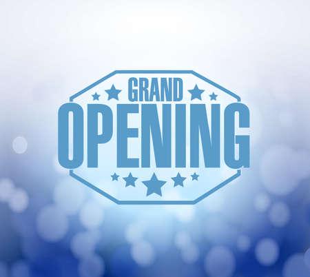 Grand Opening blau Bokeh Hintergrund, Illustration, Design Standard-Bild - 45232799