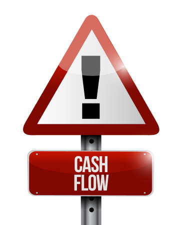 capitalist: cash flow warning road sign concept illustration design graphic icon