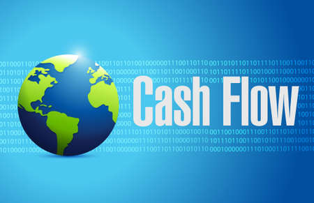 cash flow globe binary sign concept illustration design graphic icon Illusztráció