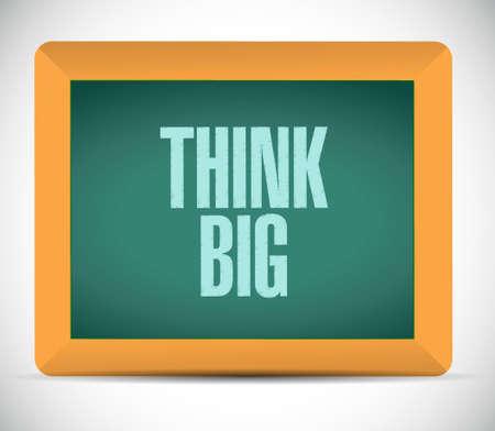 multinational: think big board sign concept illustration design graphic