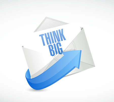 multinational: think big mail sign concept illustration design graphic