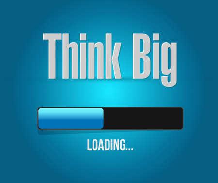 think big loading bar sign concept illustration design graphic