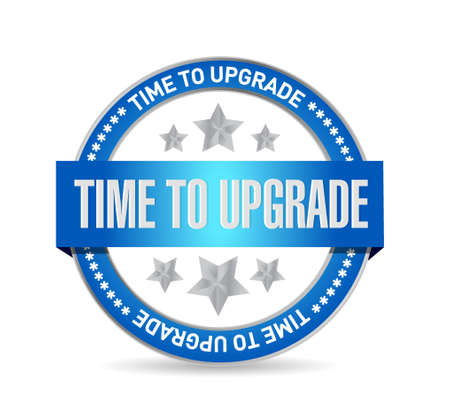 upgrade: time to upgrade seal sign concept illustration design graphic