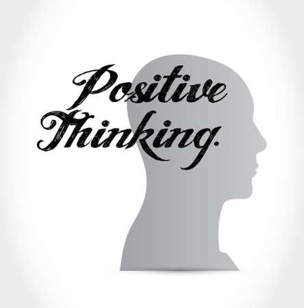 positive thinking mind sign concept illustration design graphic Illusztráció
