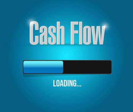 cash flow loading bar sign concept illustration design graphic icon