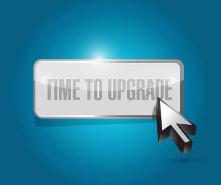 enhancement: time to upgrade button sign concept illustration design graphic