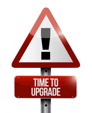 time to upgrade warning sign concept illustration design graphic