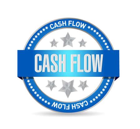 cash flow seal sign concept illustration design graphic icon Ilustrace