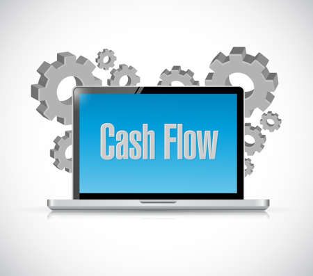 predict: cash flow technology computer sign concept illustration design graphic icon