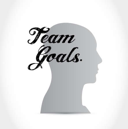 intent: Team goals head sign concept illustration design graphic Illustration