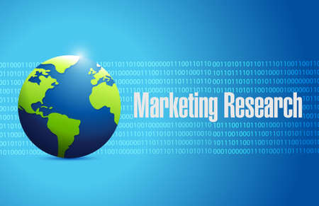 binary globe: Marketing Research globe binary sign concept illustration design graphic
