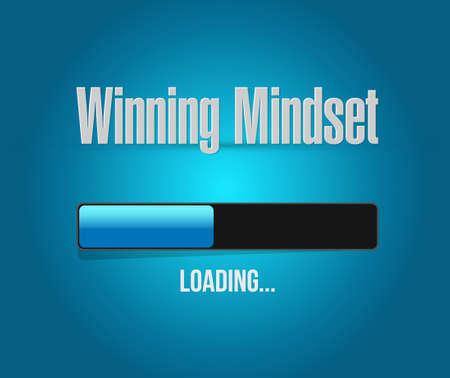 mindset: winning mindset loading bar sign concept illustration design graphic icon