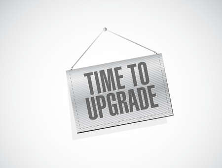 enhancement: time to upgrade texture banner sign concept illustration design graphic