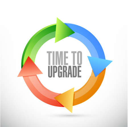 time to upgrade cycle sign concept illustration design graphic