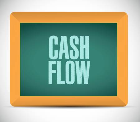 economic interest: cash flow board sign concept illustration design graphic icon