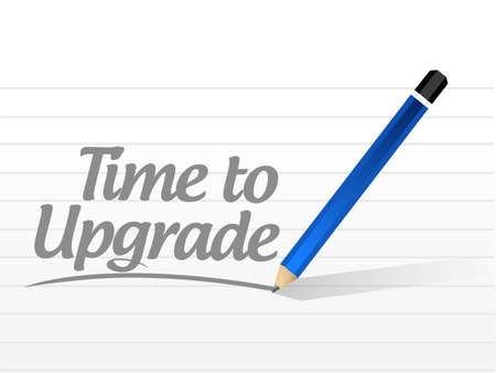 evolve: time to upgrade message sign concept illustration design graphic