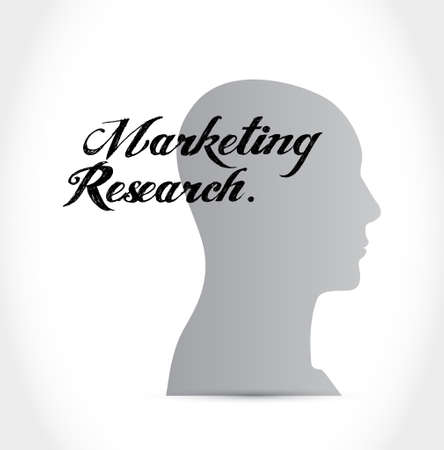 marketing research: Marketing Research mind sign concept illustration design graphic