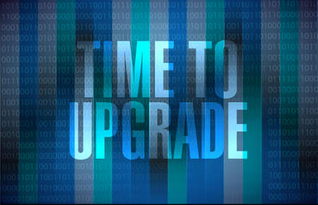 time to upgrade binary background sign concept illustration design graphic
