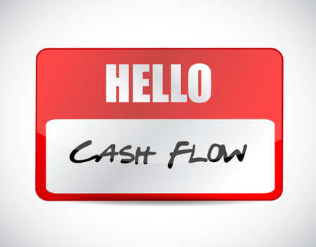 cash flow name tag sign concept illustration design graphic icon