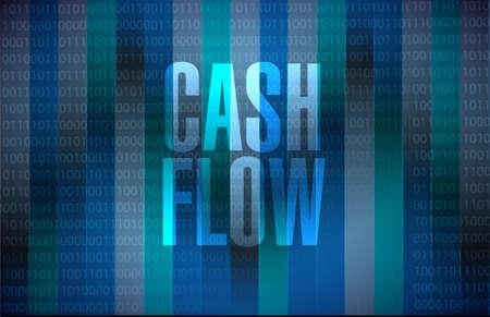 cash flow binary background sign concept illustration design graphic icon