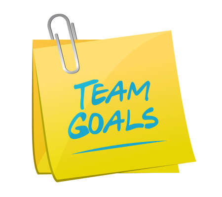 intent: Team goals memo post sign concept illustration design graphic