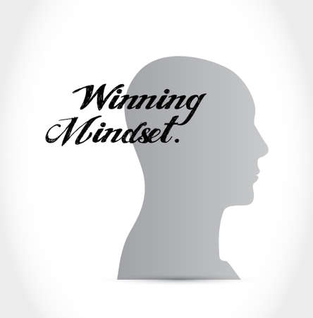 mindset: winning mindset thinking sign concept illustration design graphic icon Illustration