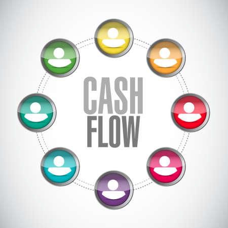 cash flow connections sign concept illustration design graphic icon
