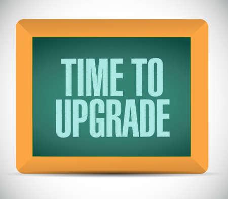 time to upgrade board sign concept illustration design graphic Vettoriali