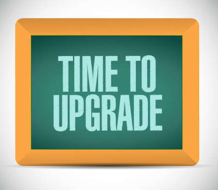 time to upgrade board sign concept illustration design graphic Stock Illustratie