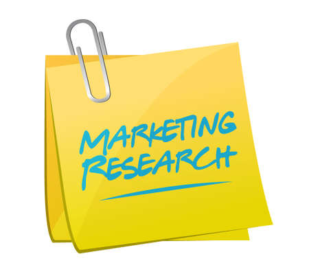 Marketing Research memo post sign concept illustration design graphic