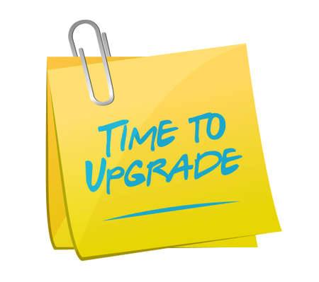 extend: time to upgrade post sign concept illustration design graphic