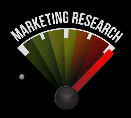 Marketing Research meter sign concept illustration design graphic 向量圖像