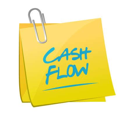 cash flow: cash flow memo post sign concept illustration design graphic icon