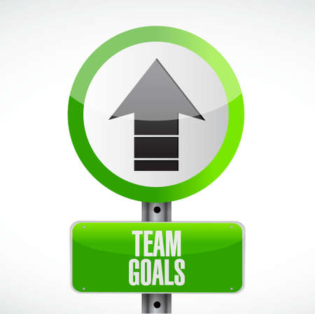 intent: Team goals road sign concept illustration design graphic