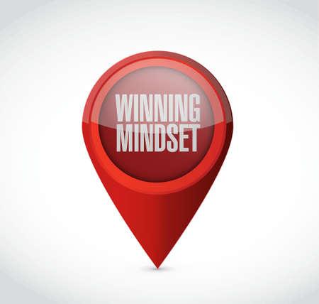 mindset: winning mindset pointer sign concept illustration design graphic icon
