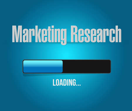marketing research: Marketing Research loading bar sign concept illustration design graphic Illustration
