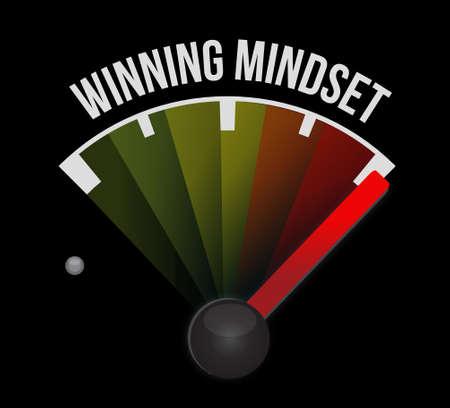 mindset: winning mindset meter sign concept illustration design graphic icon Illustration