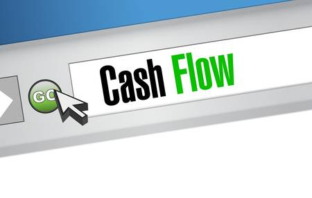 cash flow internet sign concept illustration design graphic icon