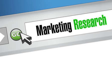 online survey: Marketing Research website sign concept illustration design graphic