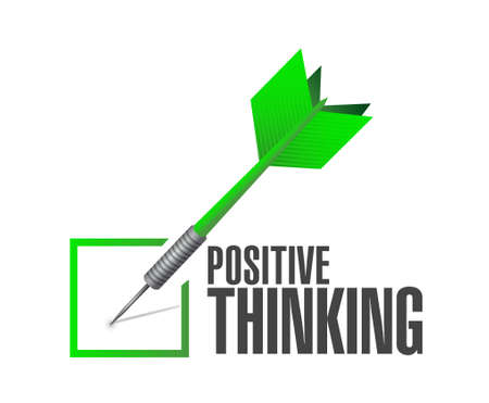 check mark sign: positive thinking approval check mark sign concept illustration design graphic Illustration