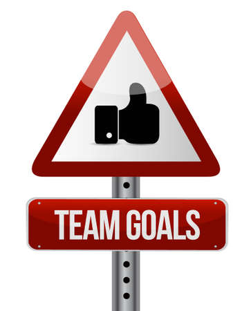 intent: Team goals like attention sign concept illustration design graphic Illustration