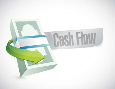 cash flow road sign concept illustration design graphic icon