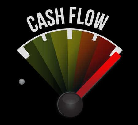 predict: cash flow meter sign concept illustration design graphic icon