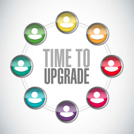 extend: time to upgrade network sign concept illustration design graphic