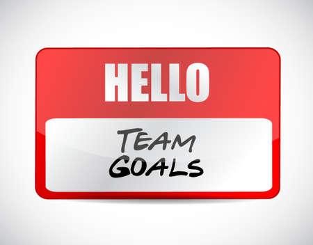 squad: Team goals name tag sign concept illustration design graphic