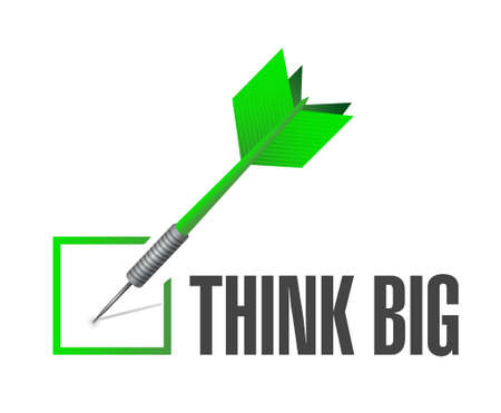think: think big check dart sign concept illustration design graphic